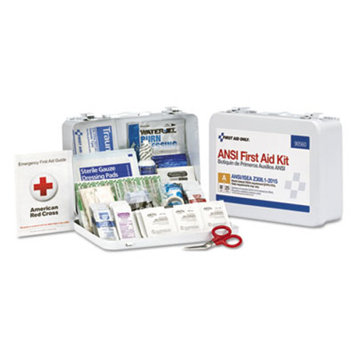 First Aid Only ANSI Class A 25 Person Bulk First Aid Kit for 25 People  89 Pieces (FAO90560)