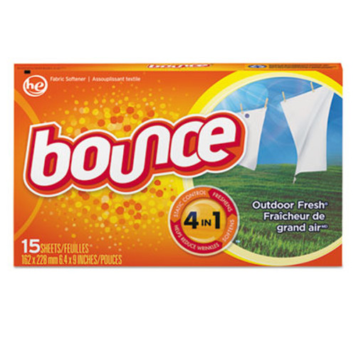 Bounce Fabric Softener Sheets  Outdoor Fresh  15 Box  15 Box Carton (PGC95860CT)