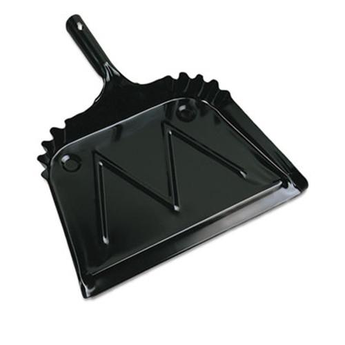 Boardwalk Metal Dust Pan  12  Wide  2  Handle  Black (BWK04212EA)