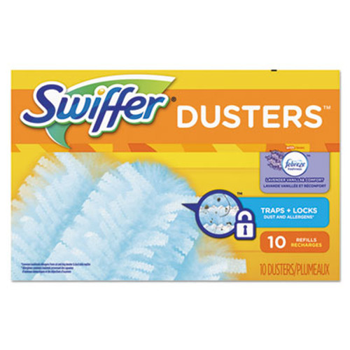 Swiffer Refill Dusters, DustLock Fiber, Light Blue, Lavender Vanilla Scent,10/Bx,4Bx/Ctn (PGC21461CT)