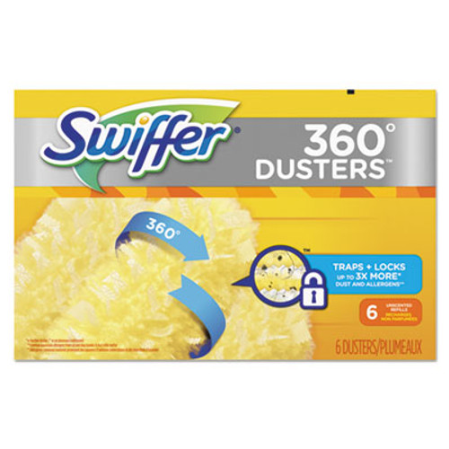 Swiffer 360 Dusters Refill, Dust Lock Fiber, Yellow, 6/Box, 4 Box/Carton (PGC21620CT)