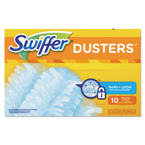 Swiffer Refill Dusters  Dust Lock Fiber  Light Blue  Unscented  10 Box  4 Box Carton (PGC21459CT)