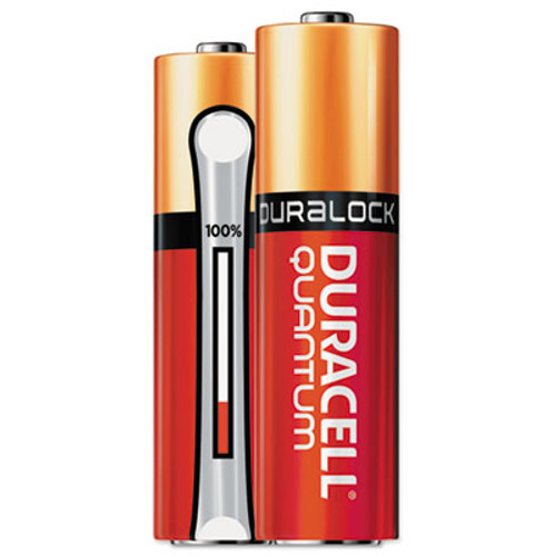 Duracell Quantum Alkaline Batteries with Duralock Power Preserve Technology, AA, 144/Ct (DURQU1500BKD09)