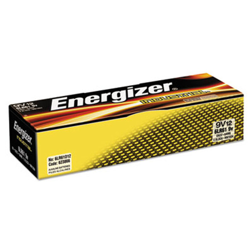 Energizer Industrial Alkaline 9V Batteries  12 Box (EVEEN22)