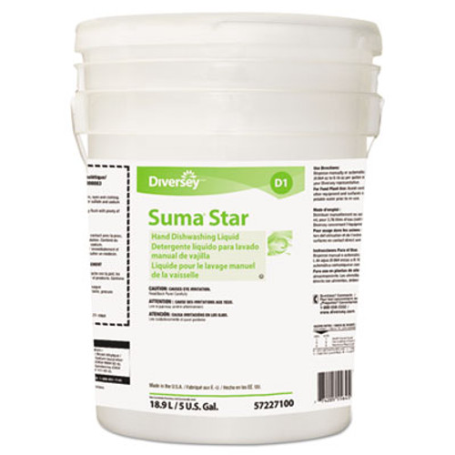 Diversey Suma Star D1 Hand Dishwashing Detergent  Unscented  5 Gallon Pail (DVO957227100)