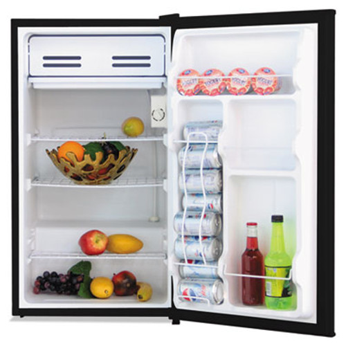 Alera 3 3 Cu  Ft  Refrigerator with Chiller Compartment  Black (ALERF333B)