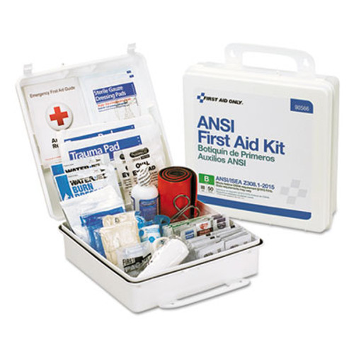 First Aid Only ANSI 2015 Compliant Class B Type III First Aid Kit for 50 People  199 Pieces (FAO90566)
