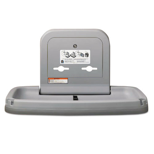 Koala Kare Horizontal Baby Changing Station  35 x 22  Gray (KKPKB20001)