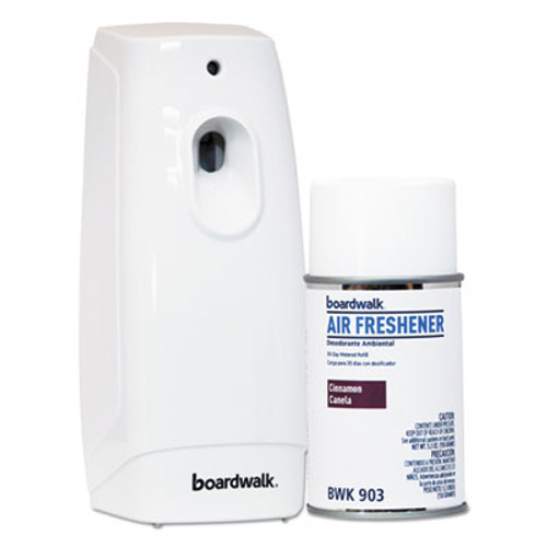 Boardwalk Air Freshener Dispenser Starter Kit  White  Cinnamon Sunset  5 3 oz (BWK907)
