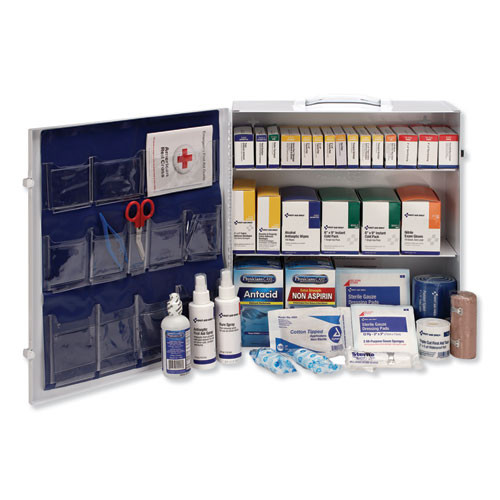 First Aid Only ANSI 2015 Class A  Type I II  Industrial First Aid Kit 100 People  676 Pieces (FAO90575)