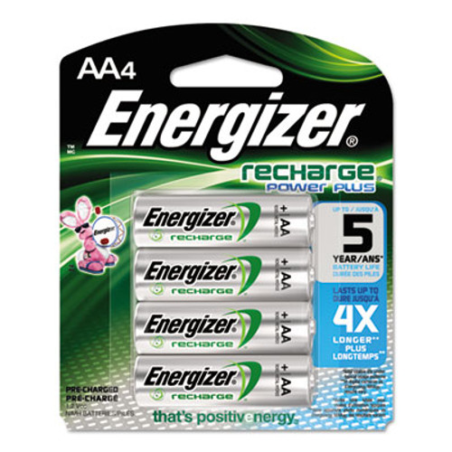 Energizer NiMH Rechargeable AA Batteries  1 2V  4 Pack (EVENH15BP4)