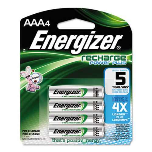 Energizer NiMH Rechargeable AAA Batteries  1 2V  4 Pack (EVENH12BP4)