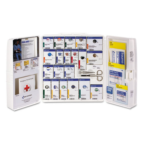 First Aid Only ANSI 2015 SmartCompliance First Aid Station Class A   50 People  241 Pieces (FAO90608)