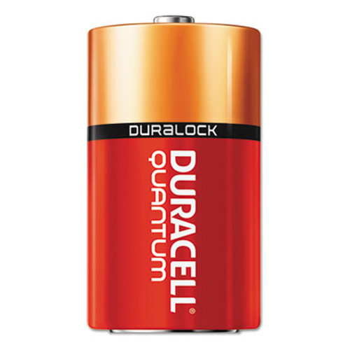 Duracell Quantum Alkaline Batteries with Duralock Power Preserve Technology, D, 12/Box (DURQU1300BKD)
