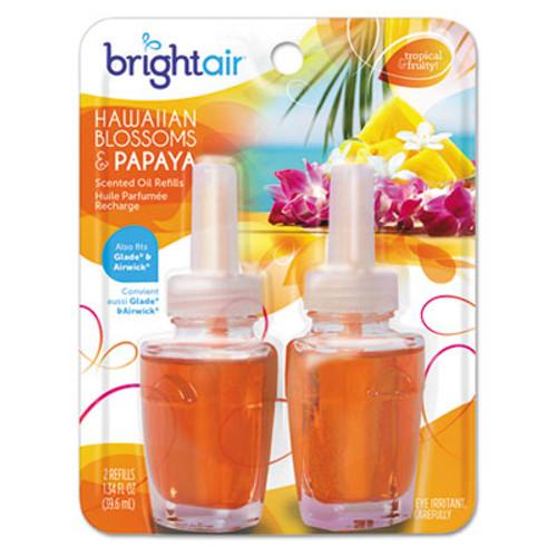 BRIGHT Air Electric Scented Oil Air Freshener Refill  Hawaiian Blossoms and Papaya  2 Pack (BRI900256PK)