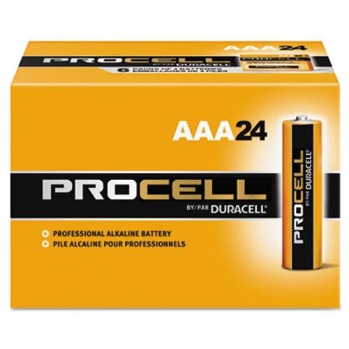 Duracell Procell Alkaline Batteries, AAA, 24/Box (DURPC2400BKD)