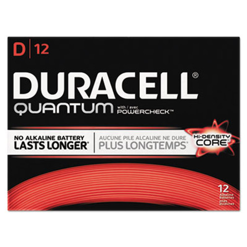 Duracell Quantum Alkaline Batteries with Duralock Power Preserve Technology, D, 72/Carton (DURQU1300)