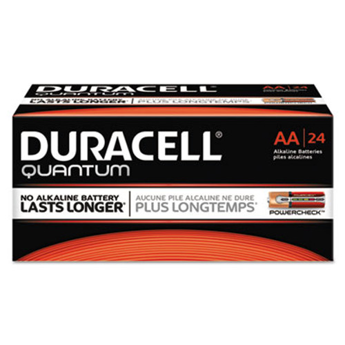 Duracell Quantum Alkaline Batteries with Duralock Power Preserve Technology, AA, 24/Box (DURQU1500BKD)