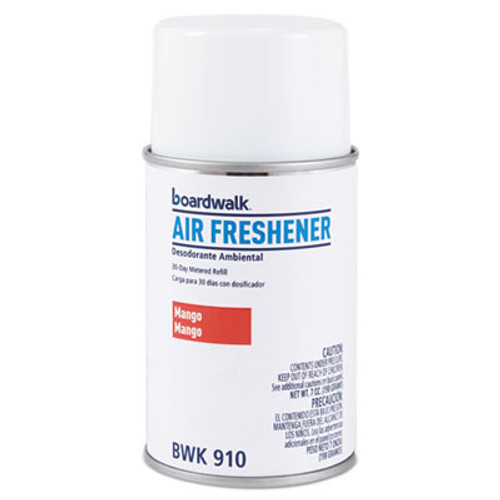 Boardwalk Metered Air Freshener Refill  Mango  5 3 oz Aerosol  12 Carton (BWK910)