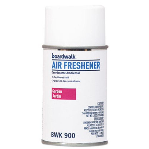 Boardwalk Metered Air Freshener Refill, Exotic Garden, 5.3 oz Aerosol, 12/Carton (BWK900)
