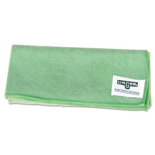Unger SmartColor MicroWipes  Microfiber  16 x 15  Green  10 Carton (UNGMF400PK)