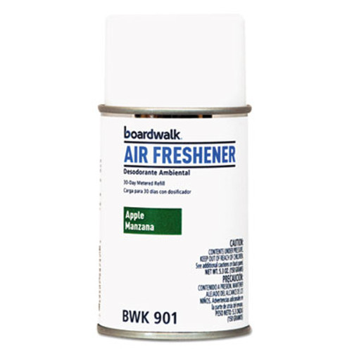 Boardwalk Metered Air Freshener Refill  Apple Harvest  5 3 oz Aerosol  12 Carton (BWK901)