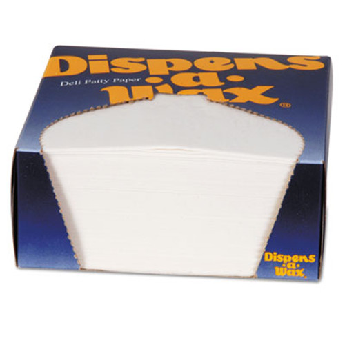 Dixie Dispens-A-Wax Waxed Deli Patty Paper  4 3 4 x 5  White  1000 Box (DXE434BX)