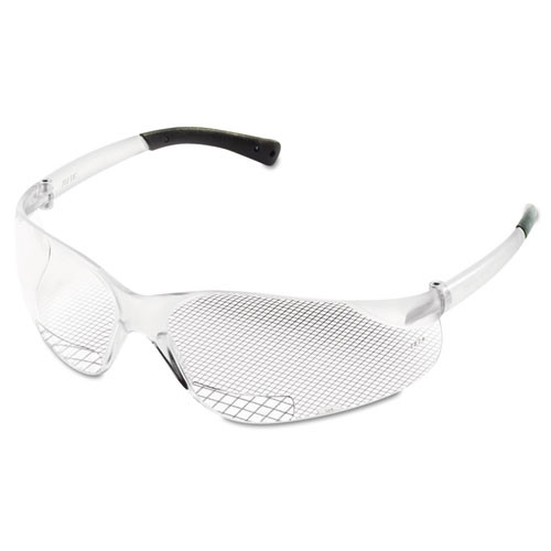MCR Safety Bearkat Magnifier Protective Eyewear  Clear  2 5 Diopter (CRWBKH25)