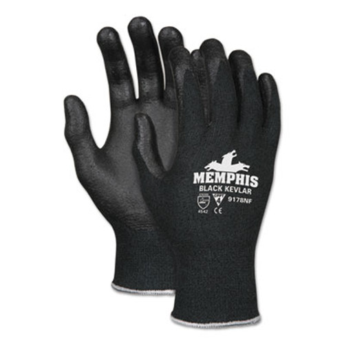 MCR Safety Kevlar Gloves 9178NF  Kevlar Nitrile Foam  Black  Large (CRW9178NFL)