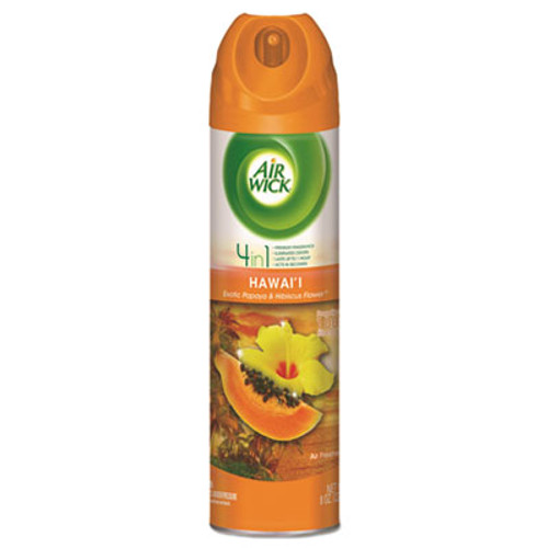 Air Wick Aerosol Air Freshener  Hawaii Exotic Papaya   Hibiscus Flower  8 oz Can (RAC85257EA)