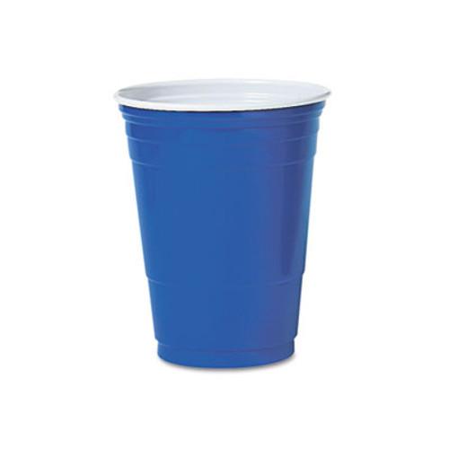 Dart Solo Plastic Party Cold Cups  16oz  Blue  50 Pack (DCCP16BPK)
