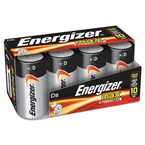 Energizer MAX Alkaline Batteries, D, 8 Batteries/Pack (EVEE95FP8)