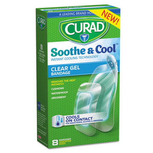Curad Soothe   Cool Clear Gel Bandages  Assorted  Clear  8 Box (MIICUR5236)