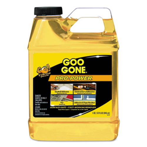 Goo Gone Pro-Power Cleaner, Citrus Scent, 1 qt Bottle, 6/Carton (WMN2112CT)