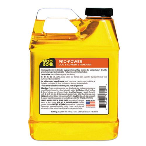 Goo Gone Pro-Power Cleaner  Citrus Scent  1 qt Bottle  6 Carton (WMN2112CT)