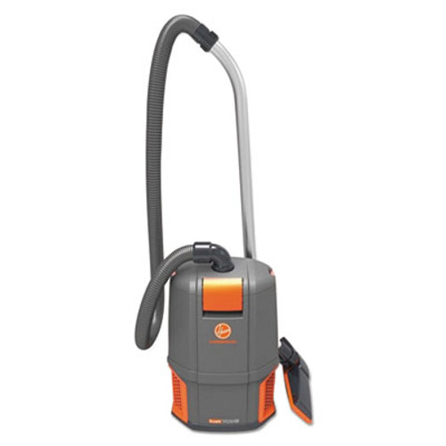 Hoover Commercial HushTone Backpack Vacuum Cleaner  11 7 lb   Gray Orange (HVRCH34006)