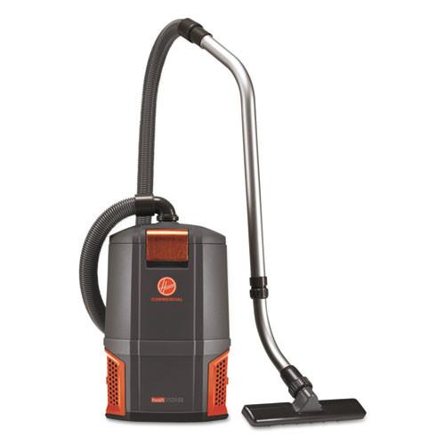Hoover Commercial HushTone Backpack Vacuum Cleaner  11 7 lb   Gray Orange (HVRCH34006)