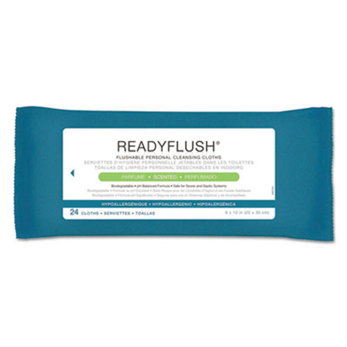 Medline ReadyFlush Biodegradable Flushable Wipes  8 x 12  24 Pack  24 Pack Carton (MIIMSC263810CT)