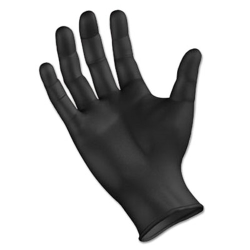 Boardwalk Disposable General Purpose Powder-Free Nitrile Gloves, M, Black, 4.4mil, 1000/Ct (BWK396MCT)