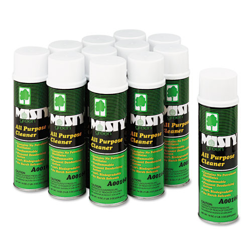 Misty Green All-Purpose Cleaner  Citrus Scent  19oz Aerosol  12 Carton (AMR1001583)