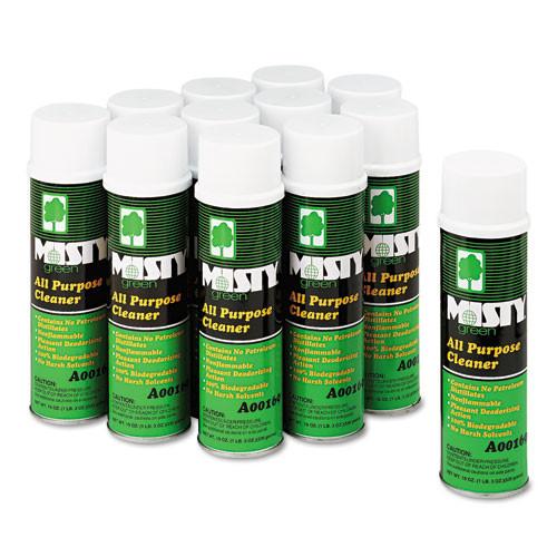 Misty Green All-Purpose Cleaner  Citrus Scent  19oz Aerosol  12 Carton (AMR1001583)