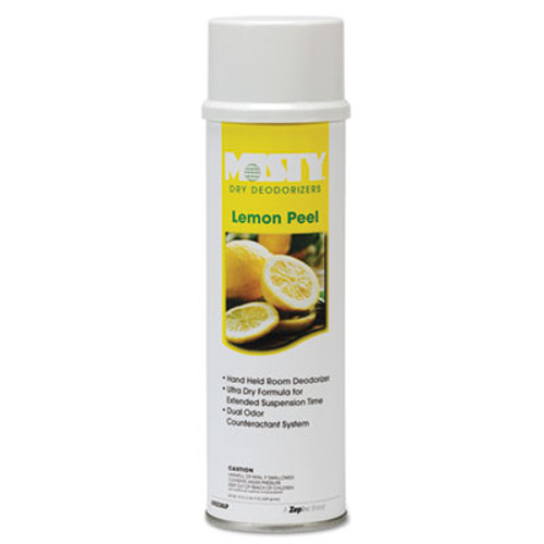 Misty Handheld Air Deodorizer  Lemon Peel  10 oz Aerosol  12 Carton (AMR1001842)