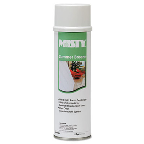 Misty Handheld Air Deodorizer  Summer Breeze  10 oz Aerosol  12 Carton (AMR1001868)