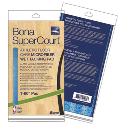 Bona SuperCourt Athletic Floor Care Microfiber Wet Tacking Pad  60   Light Dark Blue (BNAAX0003499)