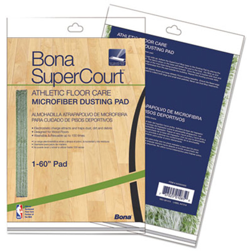 Bona SuperCourt Athletic Floor Care Microfiber Dusting Pad  60   Green (BNAAX0003500)