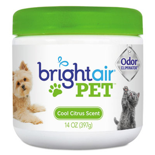 BRIGHT AirA Pet Odor Eliminator, Cool Citrus, 14 oz Jar (BRI900258EA)