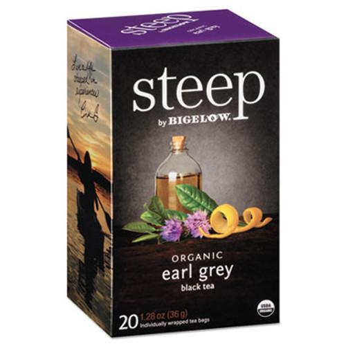 Bigelow steep Tea  Earl Grey  1 28 oz Tea Bag  20 Box (BTC17700)