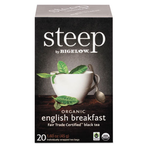 Bigelow steep Tea  English Breakfast  1 6 oz Tea Bag  20 Box (BTC17701)