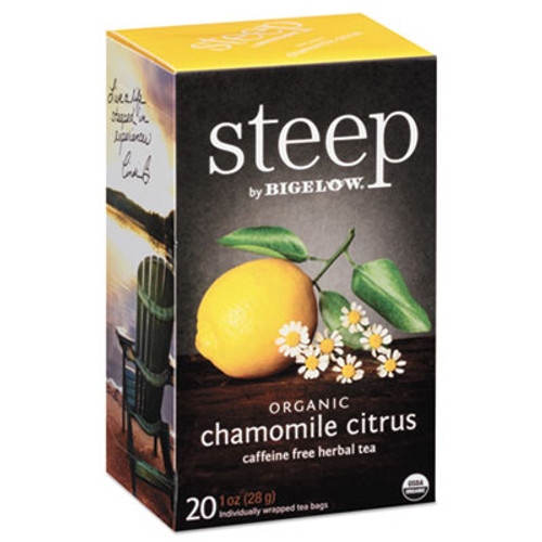Bigelow steep Tea  Chamomile Citrus Herbal  1 oz Tea Bag  20 Box (BTC17707)