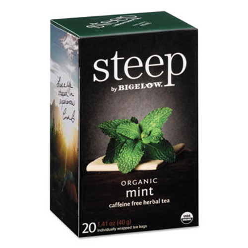 Bigelow steep Tea  Mint  1 41 oz Tea Bag  20 Box (BTC17709)